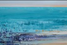 Serene Seascape Art / The beauty of the sea as depicted by SM Home Gallery artists in these beautiful paintings whether abstract or realistic. Sit back and relax and enjoy these stunning artworks. www.sandramorganinteriors.com/art-gallery/