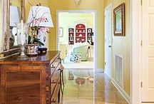 Chic Entryways / Chic, Timeless, Classic Entryways designed by Sandra Morgan, ASID, of Sandra Morgan Interiors, www.sandramorganinteriors.com
