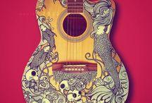 blake's guitar / ways to paint blake's guitar