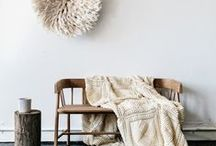 The Naked Bohemian / White, warm and cool neutrals, texture, natural finishes with a hint of metallic or greenery.