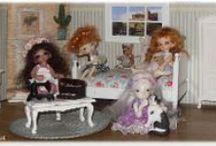 """Little world of little BJD  / Some of my BJD, when I play with Quelques unes de mes poupées quand je """"joue"""" avec"""