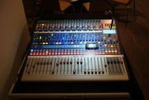 Mixing Consoles for hire / We have a variety of Mixers available for hire,  Analogue and Digital.