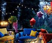 Vintage chairs and beanbags