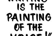 quotes about writing / Diese Pinnwand sammelt Zitate übers Schreiben