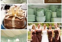 Chocolate and mint / Chocolate brown and mint green wedding theme with natural confetti ideas from The confetti cone company www.confetti-cones.co.uk