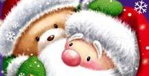 """Natal / idéias e sugestões p pintura em tecido c o tema """"Natal"""""""