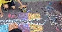 "Chalk Art ♥ Outdoor Ideas for Kids / ""All you needs is ... chalk"" by..."
