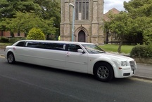 White Chrysler  / Also known as the Baby Bentley this eight seater is perfect for smaller parties.