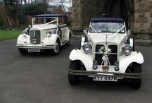Blue Beauford Convertible Wedding Car