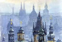 Prague Towers / Prague is indeed hundred-spired! Discover most famous towers of Prague.