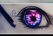 Drawing / I like to draw eyes / by Hannah Raunio