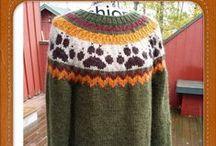 Strikket gensere, kofter og jakker med norsk mønster