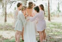 """Getting Ready to say """"I Do!"""" / Great robes and gorgeous getting ready photos!"""