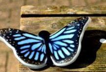 butterflies of glass / fused glass butterflies