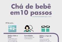 Chá de bebê e bolo de fraldas / Inspirações e dicas para chá de bebê e chá de fraldas. Mais em www.maternidadehoje.com