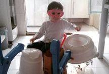 Atividades para a família / Ideias para reutilizar móveis e outros objetos domésticos para brincadeiras infantis. Brinquedo feito em casa. Brinquedo de papelão.