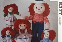 Raggedy Ann & Andy Doll Patterns / Raggedy Ann & Andy Dolls Sewing Pattern Collection.