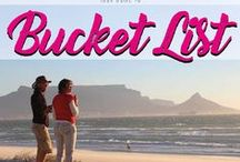 Bucket List / My personal bucket list for traveling.