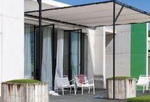 Faire de l'ombre dans son jardin / Quelques idées pour se protéger du soleil dans son jardin, ou profiter d'une terrasse ombragée...