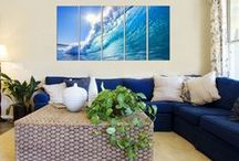Seascape Art on Canvas / Feel the ocean breeze inside your homes.    Seascape  Wall pictures by Vibrant Canvas Prints Buy seascape canvas prints, beach prints on canvas, forest canvas designs and sunset wall pictures and many more canvas designs.