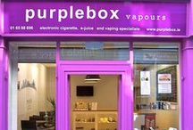 Inside purplebox vapours / Pictures of our funky new shop in Temple Bar. Come and chill out in our Vaporium and enoy vaping your favourite e-juice flavours.