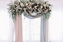 Wedding Backdrops and Wedding Decor / Ideas for wedding backdrops for photos, and wedding decor, table setting, table plan