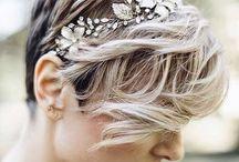 Wedding Hair Ideas - Short Hair / Short hair wedding styles, short hair ideas for wedding