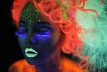 "UV stuff / Ideas for a uv makeup. Like it? See also my boards ""Fantasy makeup"", Bodypainting"" and ""Bellypainting""."