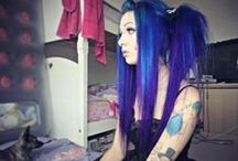 *Dyed Hair* / Hair dyed in beautiful colours!