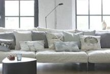 CUSHION COLLECTION / Create cosy spaces! Decorate your home with lovely cushions. Cheer up your lounge areas. Mix various fabrics patterns & colors as you please for your own style. You cannot overdo with special decorative objects.