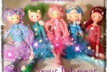Theo and the Cuties / Handmade Custom-Designed Ragdolls, Fabric Dolls, Cloth Dolls