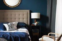 navy master goodness / Navy inspired decor for our master bedroom