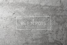 BET´N´POTS_2015 / Concrete handmade pots and vases