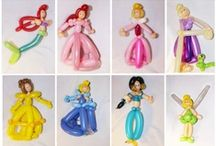 Balloon figures Princesses, Mermaids and other Fairy
