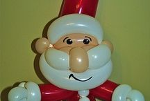Balloon Christmas, Winter, Decorations, Figures