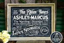 Chalkboard Signs for Weddings / Ideas for using chalkboard signs in your wedding