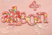 Quilled Monograms & Letters / Quilled Monograms and Letters for Home Decor