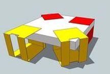 """Table basse // G2 //  by Collectif 7iD / La 7ème création """"7ID"""" continue sur la lignée de la conception de mobilier, précédemment inaugurée par le fauteuil pour enfants """"Welford"""". Modulable, la table basse carrée G2 a été conçue pour satisfaire à l'aménagement de tout type d'espaces intérieurs."""