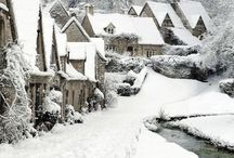 Snow / There's something about snowy weather in Britain; Dickens probably has a lot to do with romanticising it. In reality, you get wet, cold and slither dangerously about.  But it's really pretty, and transforms everything...