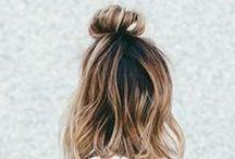 Hair bun / medium hair