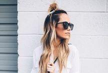 Hair bun / long hair