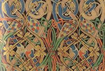 Designs from the North / Norse, Celtic, Anglo Saxon and Pictish design elements - interlock and inlays; wood, stone and metals from the past