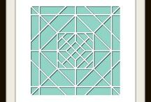 Quilt Stencil - Design Team / This Board shows different Photo Collage layouts all using the Quilt Stencil as the design template.   $21.99 / by Lea France Scrapbooking