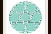 Rose Window Stencil - Design Team / This Board shows different Photo Collage layouts all using the Rose Window Stencil as the design template.  $21.99 / by Lea France Scrapbooking