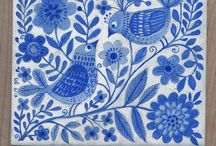 My painted ceramics / painted tiles by Galia Bernstein