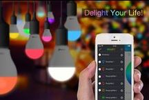 Smart Light Bulb / Smart mood lighting bulb( BLE version and Wi-Fi version), which can be controlled by smart device for interesting functions ,e.g. color and brightness changing, dancing with music, alert for incoming Call/SMS ,proximity control ,delayed turn on/off. Sunny and funny, this is what the Delite is.