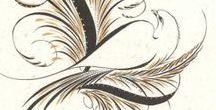 Calligraphy flourishes