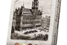 Kolekce města / Kolekce bonbonier a čokolád v balení s motivy měst a pamětihodností.
