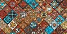 Tile seamless pattern / Colorful vintage seamless pattern with floral and mandala elements
