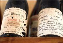 Old wine label / Vieiles étiquttes de vin